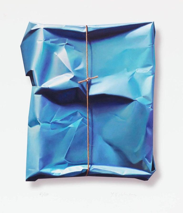 Detection of blue vibration II - Print by Yrjö Edelmann