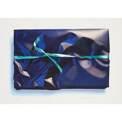 Parcel with green ribbon