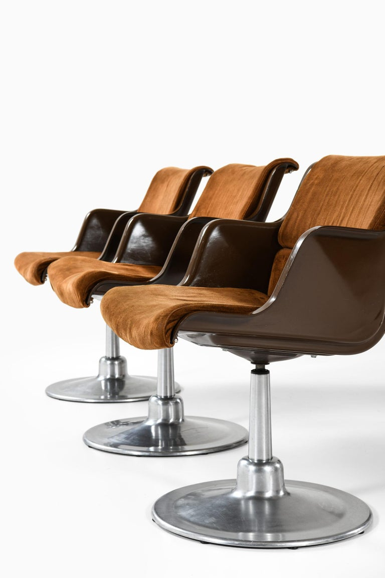 Scandinavian Modern Yrjö Kukkapuro Dining Chairs Produced by Haimi in Finland For Sale