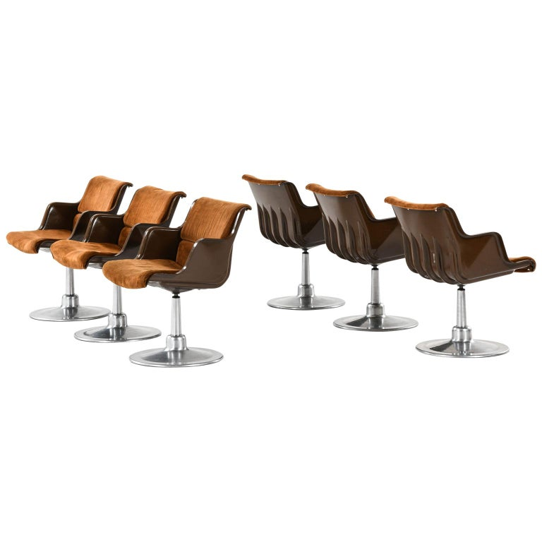 Yrjö Kukkapuro Dining Chairs Produced by Haimi in Finland For Sale