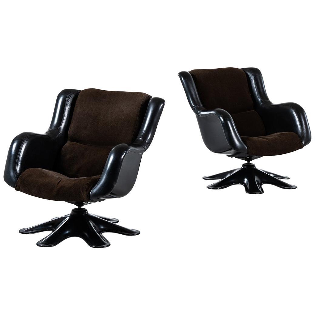 Yrjö Kukkapuro Easy Chairs Model 418 Produced by Haimi in Finland