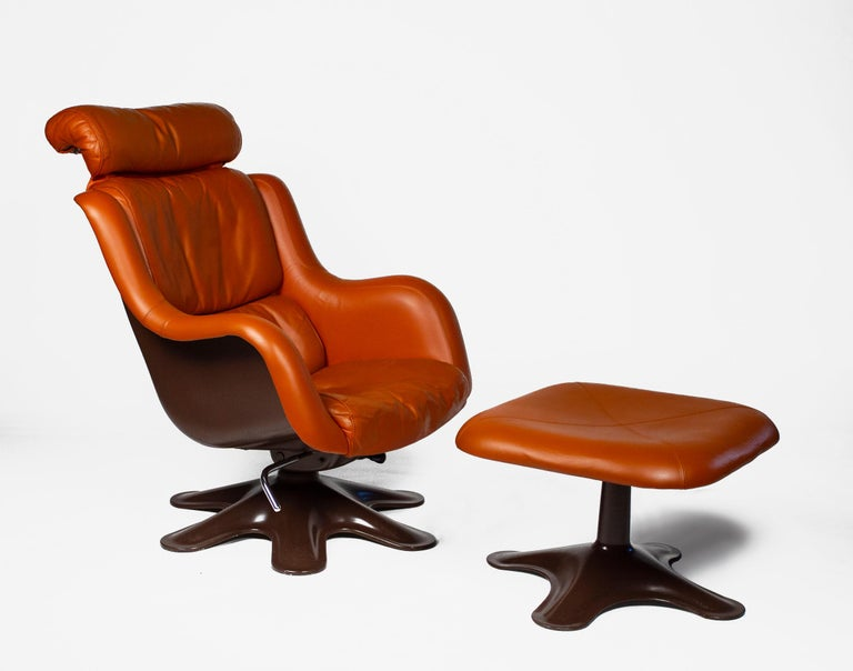 Mid-Century Modern Karuselli Lounge Chairs by Yrjo Kukkapuro for Haimi of Finland 3 Available For Sale