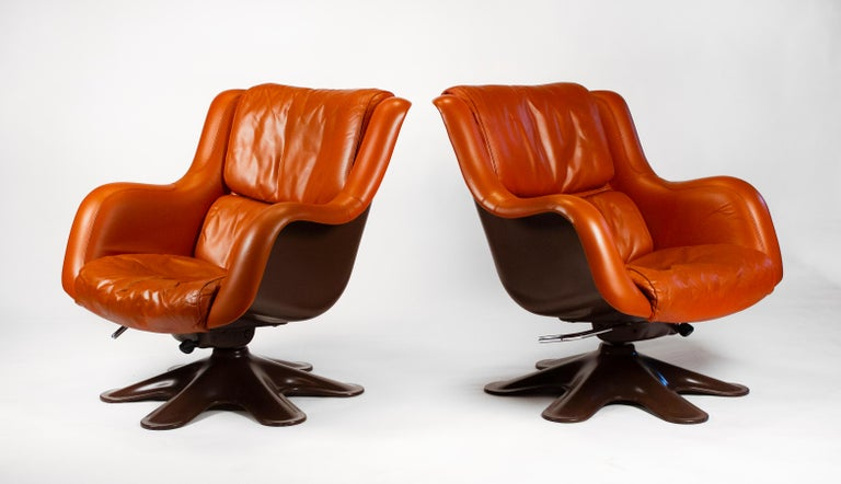 Finnish Karuselli Lounge Chairs by Yrjo Kukkapuro for Haimi of Finland 3 Available For Sale