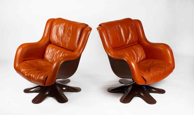 Karuselli Lounge Chairs by Yrjo Kukkapuro for Haimi of Finland 3 Available In Good Condition For Sale In Dallas, TX