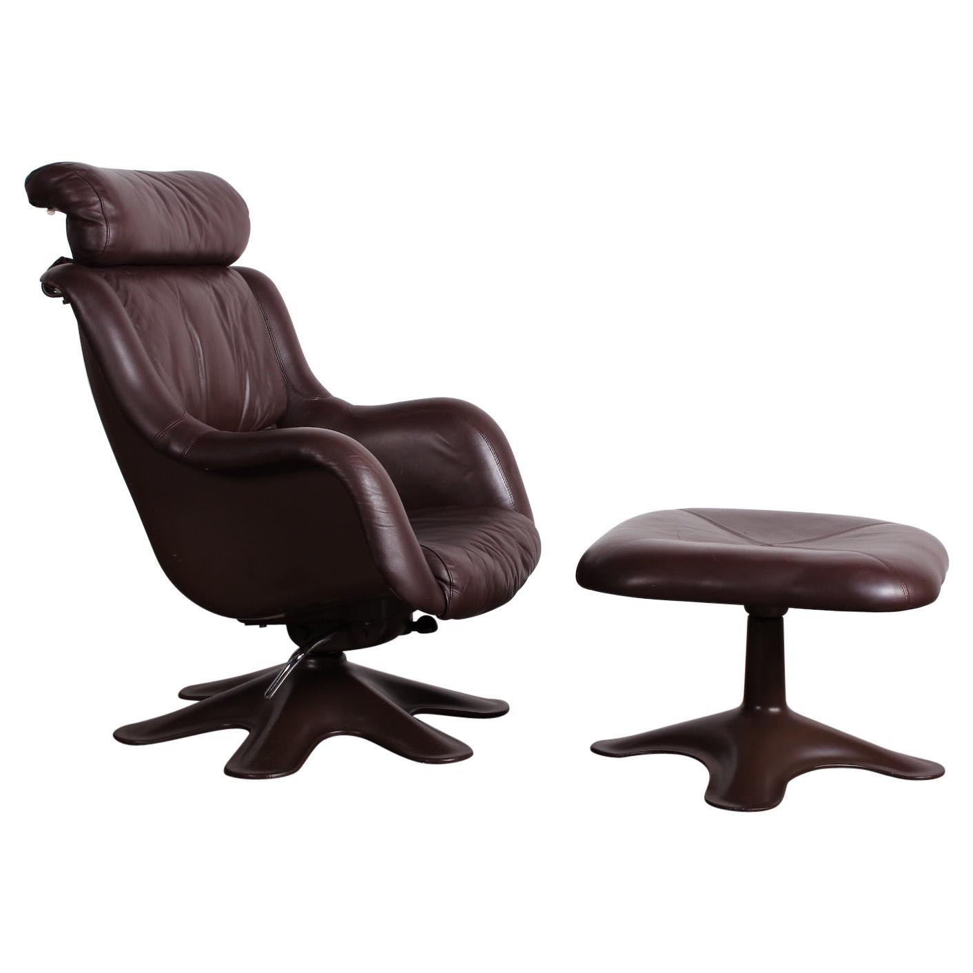 "Yrjo Kukkapuro ""Karuselli"" Lounge Chair and Ottoman"