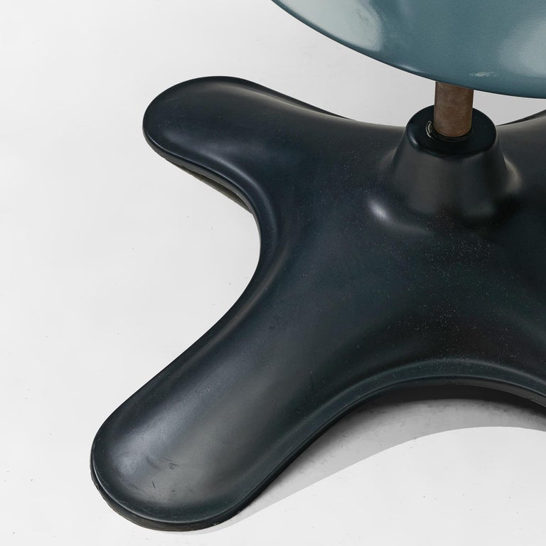 Yrjö Kukkapuro 'Karuselli' Lounge Chair in Black Leather For Sale 4