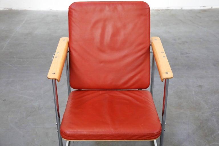 Yrjö Kukkapuro 'Skaala' Leather Lounge Chairs for Avarte, Finland, 1970s For Sale 4