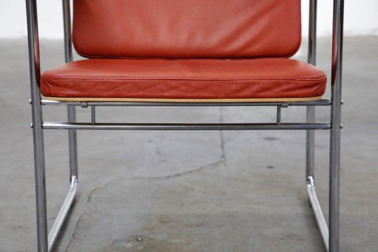 Yrjö Kukkapuro 'Skaala' Leather Lounge Chairs for Avarte, Finland, 1970s For Sale 6