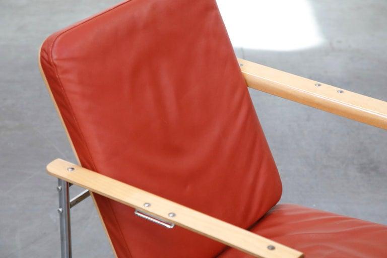 Yrjö Kukkapuro 'Skaala' Leather Lounge Chairs for Avarte, Finland, 1970s For Sale 7