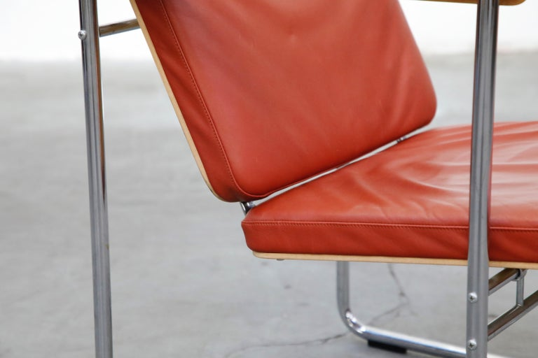 Yrjö Kukkapuro 'Skaala' Leather Lounge Chairs for Avarte, Finland, 1970s For Sale 8