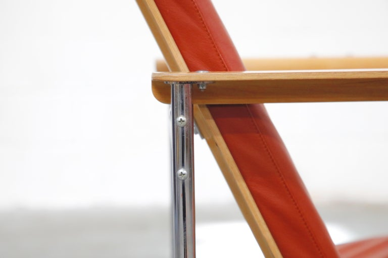 Yrjö Kukkapuro 'Skaala' Leather Lounge Chairs for Avarte, Finland, 1970s For Sale 9