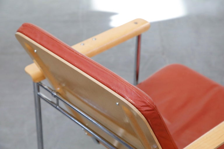 Yrjö Kukkapuro 'Skaala' Leather Lounge Chairs for Avarte, Finland, 1970s For Sale 11