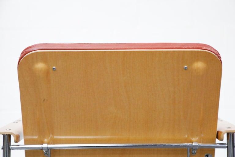 Yrjö Kukkapuro 'Skaala' Leather Lounge Chairs for Avarte, Finland, 1970s For Sale 13