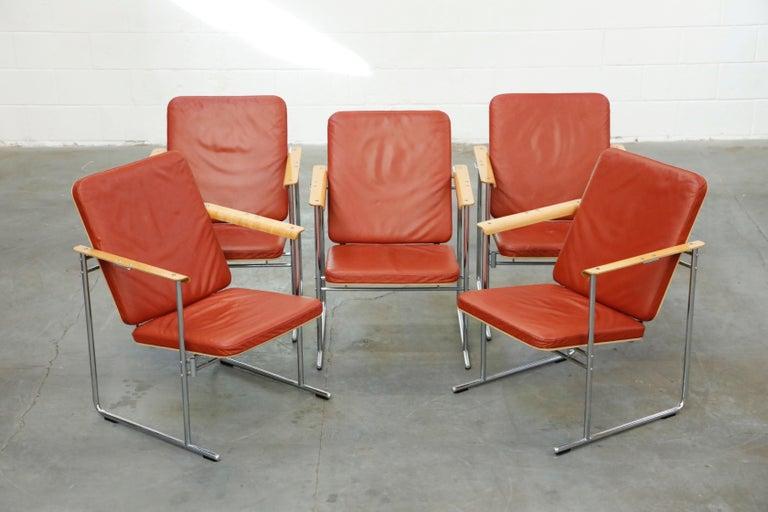 Mid-Century Modern Yrjö Kukkapuro 'Skaala' Leather Lounge Chairs for Avarte, Finland, 1970s For Sale