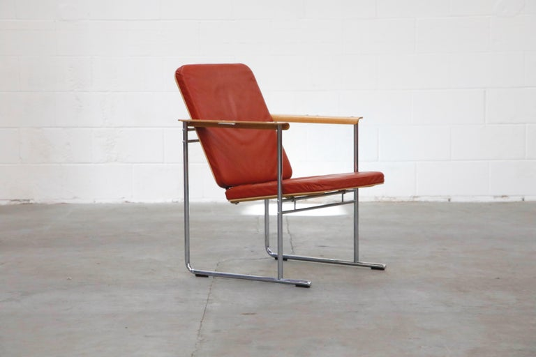 Yrjö Kukkapuro 'Skaala' Leather Lounge Chairs for Avarte, Finland, 1970s In Good Condition For Sale In Los Angeles, CA