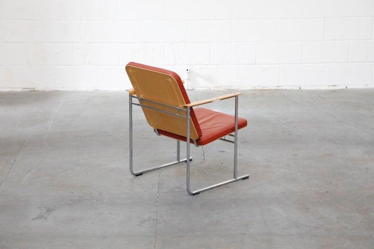 Yrjö Kukkapuro 'Skaala' Leather Lounge Chairs for Avarte, Finland, 1970s For Sale 1