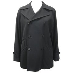 Y's Yohji Yamamoto Black Double Breasted Jacket