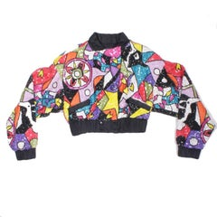 YSA DUPIRE Vintage Jacket Embroidered with Sequins and Multicolored Pearls 40EU