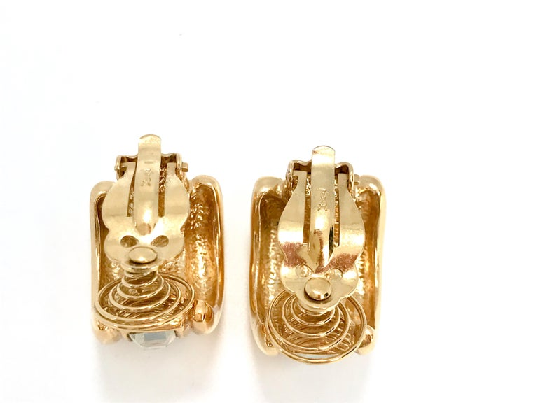 YSL 1980s Vintage Clip on Statement Earrings  In Excellent Condition For Sale In London, GB