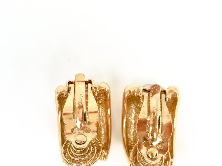 Women's or Men's YSL 1980s Vintage Clip on Statement Earrings  For Sale