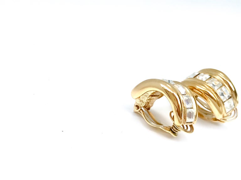 YSL 1980s Vintage Clip on Statement Earrings  For Sale 2