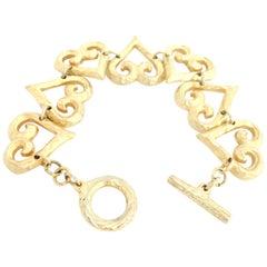 YSL 1980s Vintage Heart Bracelet Yves Saint Laurent