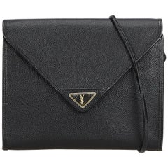 YSL Black Leather Crossbody Bag