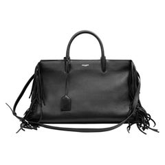 YSL Black Leather Shopping Bag