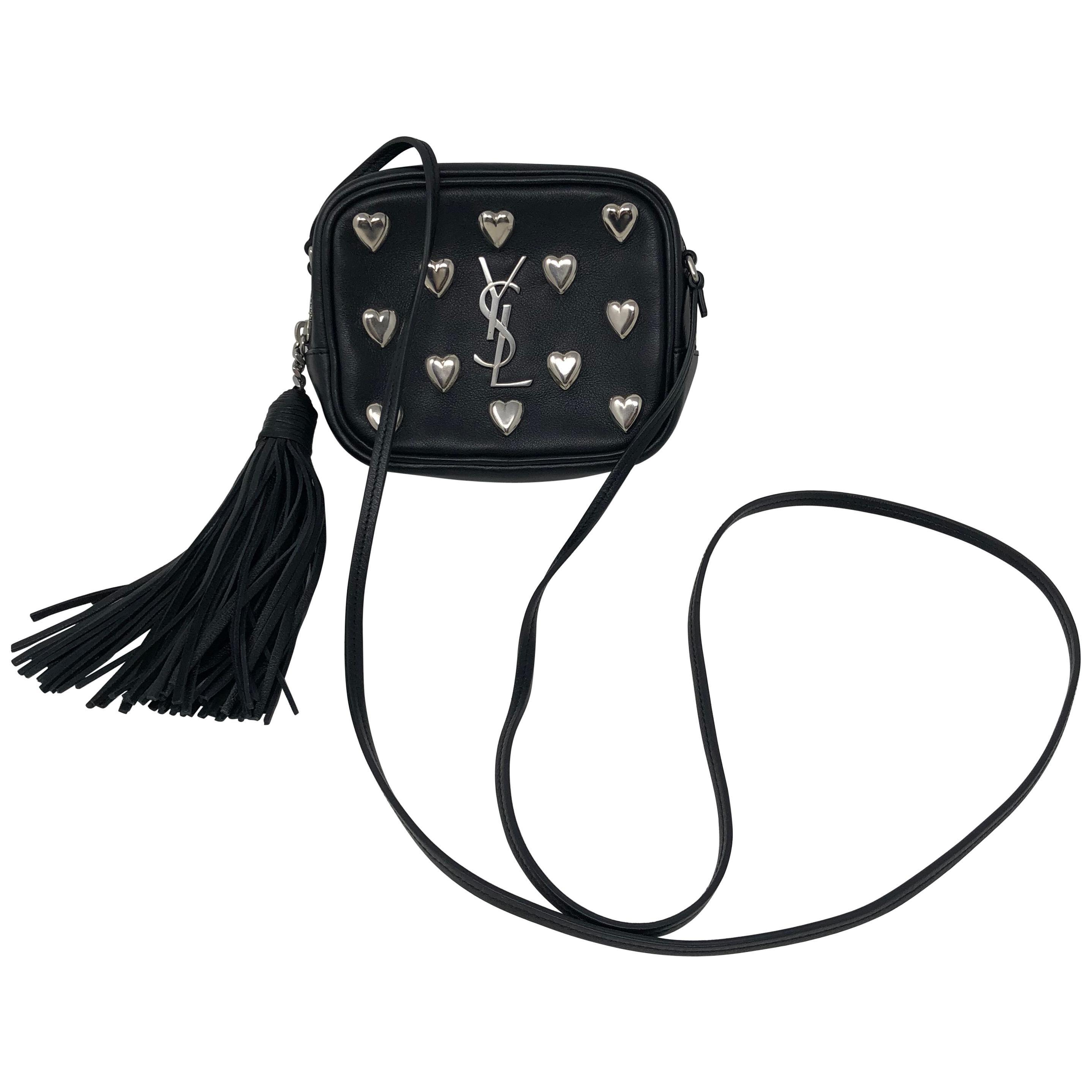 ed26dff4ec7 YSl Black Mini Hearts Crossbody Bag at 1stdibs