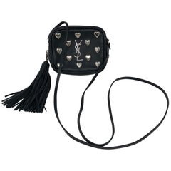 YSl Black Mini Hearts Crossbody Bag