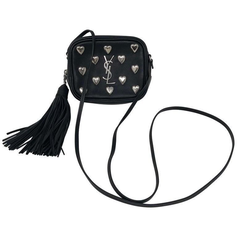 Ysl Black Mini Hearts Crossbody Bag For Sale At 1stdibs