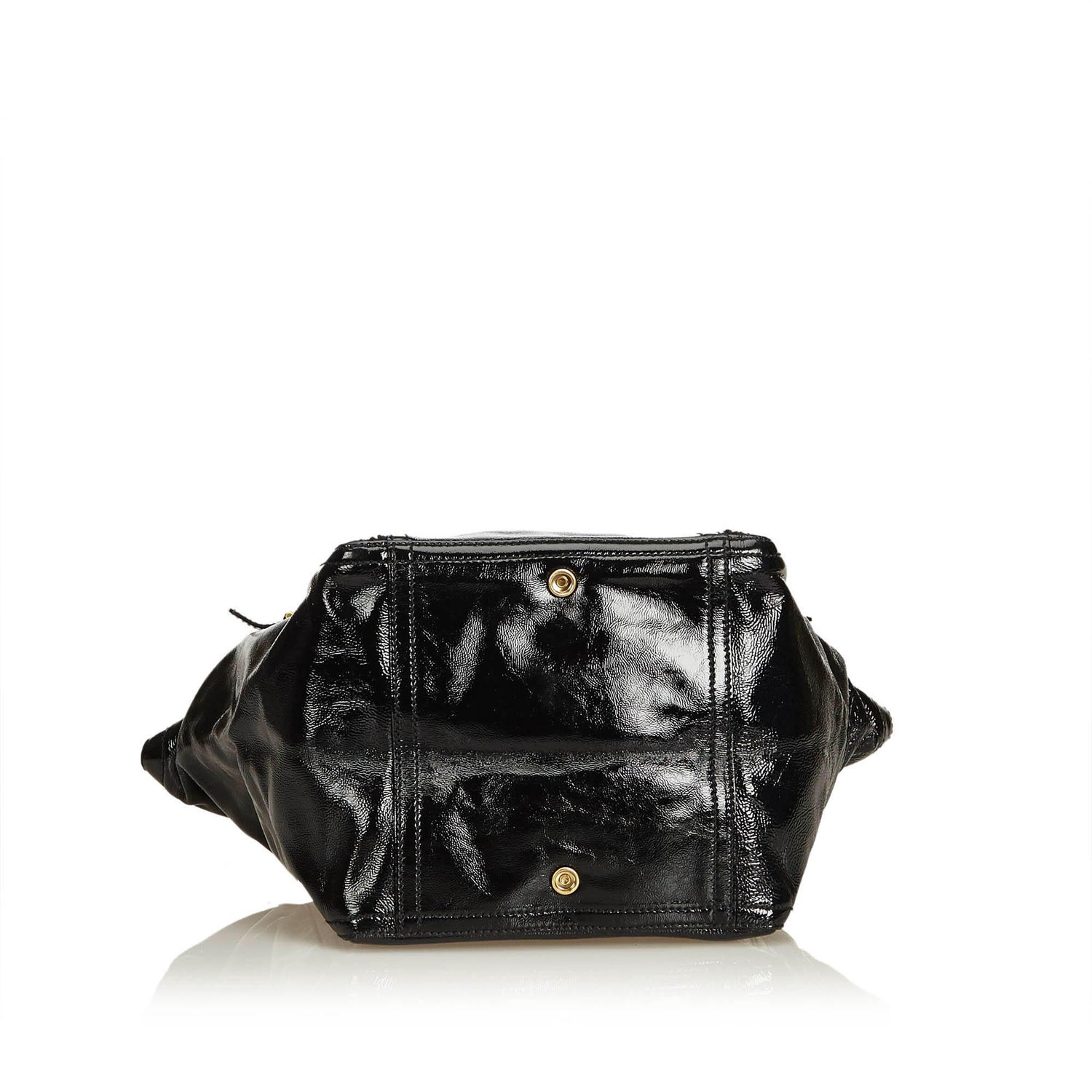 ecdf7be9d6 YSL Black Patent Leather Downtown Tote at 1stdibs