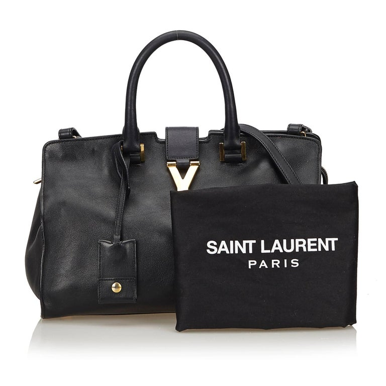 964aef3b9a Yves Saint Laurent YSL Black Small Cabas Chyc Bag For Sale 6