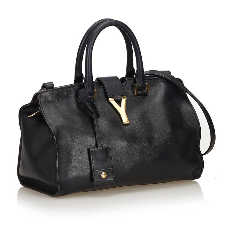 Yves Saint Laurent YSL Black Small Cabas Chyc Bag at 1stdibs