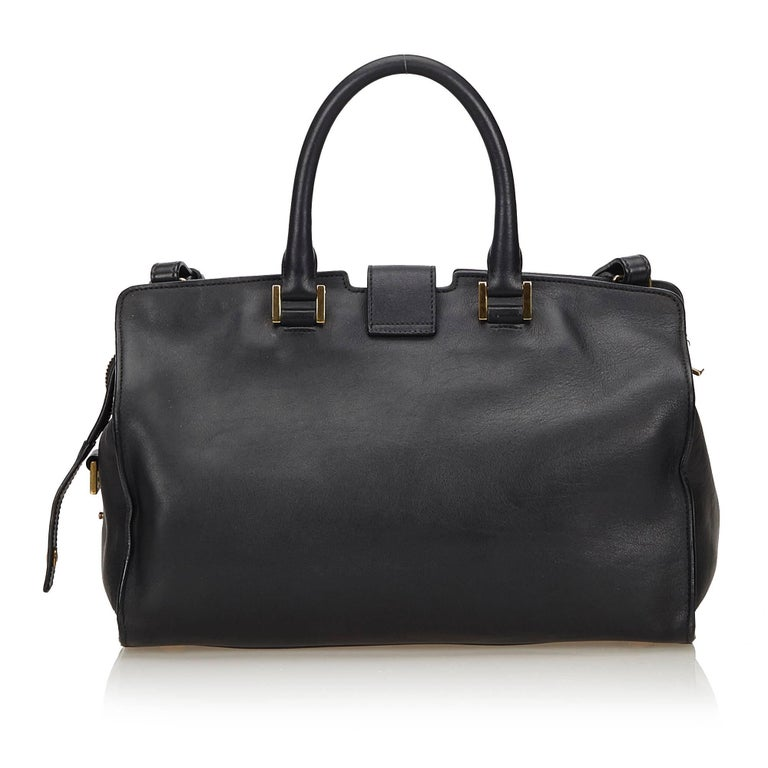 ea6ab7e605a Yves Saint Laurent YSL Black Small Cabas Chyc Bag In Good Condition For Sale  In Orlando