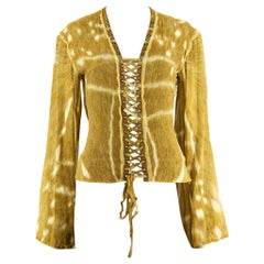 YSL by Tom Ford Deer Hide Print Lace-up Top SS 2002