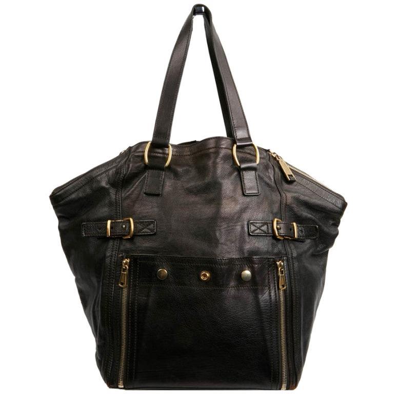 YSL Downtown Brown Calfskin Bag
