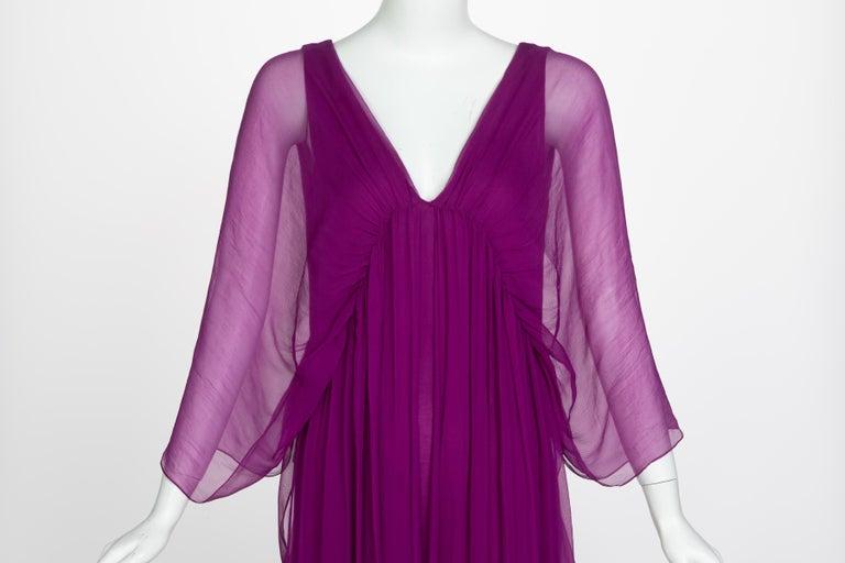 Yves Saint Laurent Edition Soir Chiffon Evening Dress circa 2019 For Sale 5