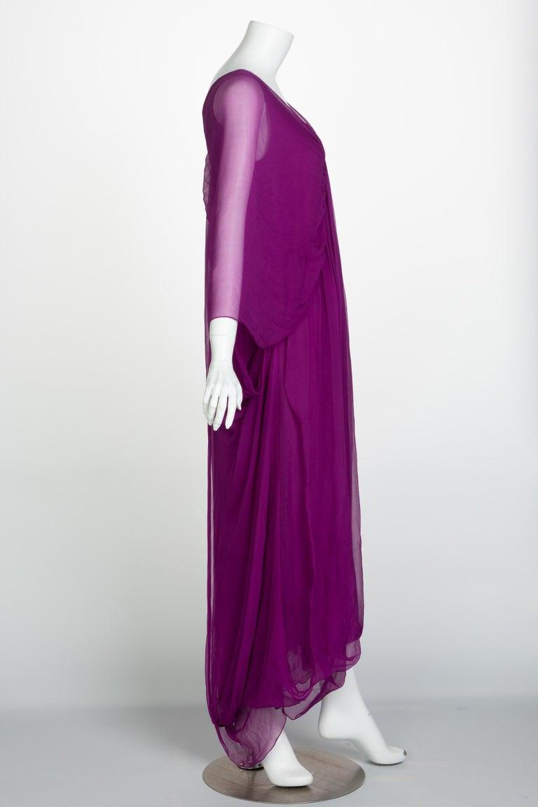 Men's  Yves Saint Laurent Edition Soir Chiffon Evening Dress circa 2019 For Sale