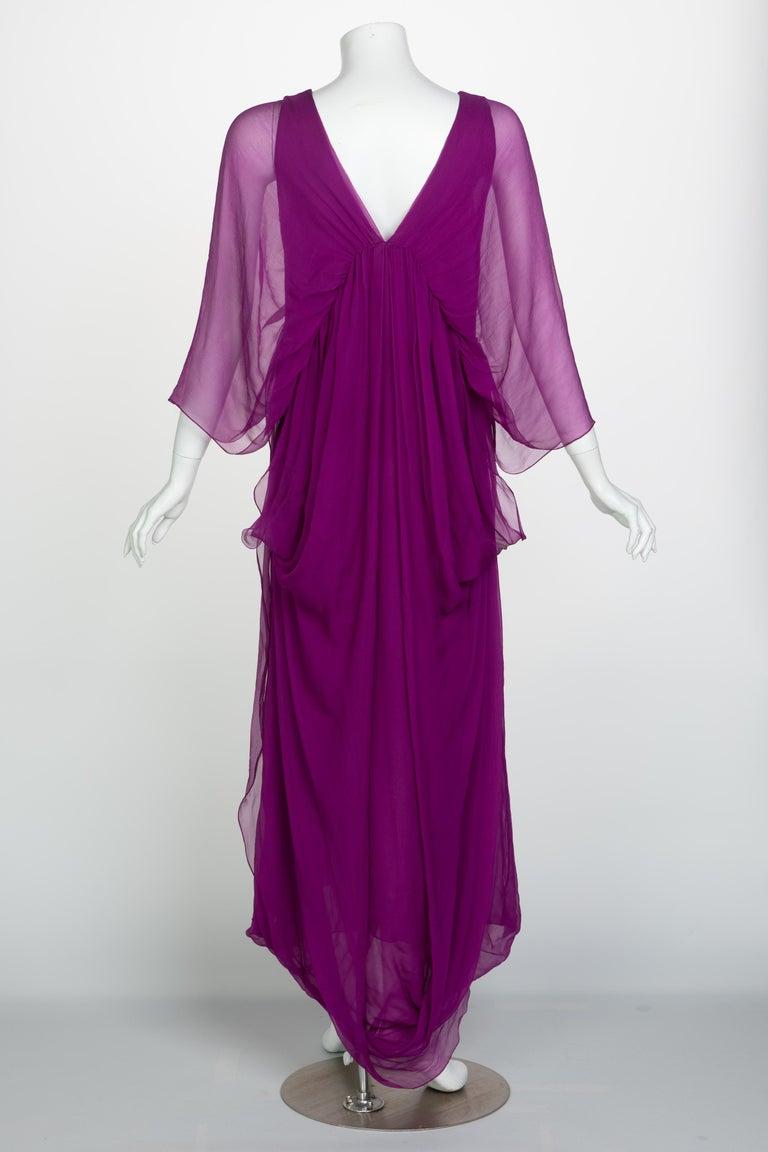 Yves Saint Laurent Edition Soir Chiffon Evening Dress circa 2019 For Sale 2