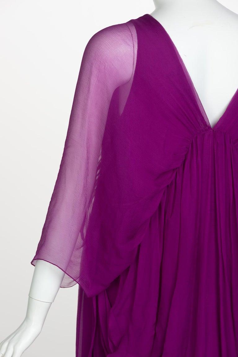 Yves Saint Laurent Edition Soir Chiffon Evening Dress circa 2019 For Sale 4