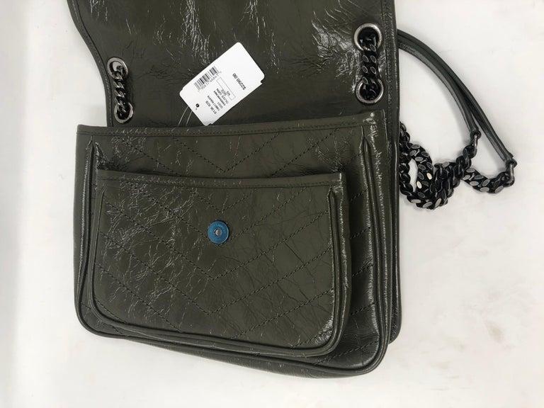 Ysl Green Vert Fonce Medium Niki Bag For Sale At 1stdibs
