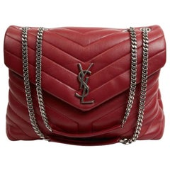 YSL Loulou Red Leather Bag
