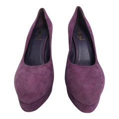 YSL purple platform pump