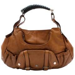 YSL Rive Gauche Vintage Brown Leather Handbag