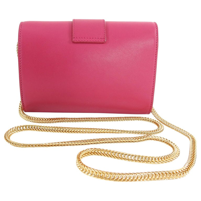 5197c208827 YSL Saint Laurent Pink Mini Sac Y Ligne Crossbody Bag For Sale 1