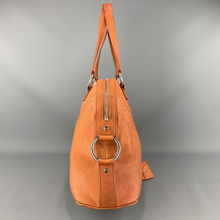 Ysl Solid Burnt Orange Leather Muse Tote Handbag For Sale