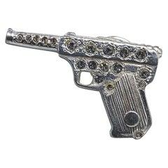 YSL Vintage 1990s Pistol Brooch