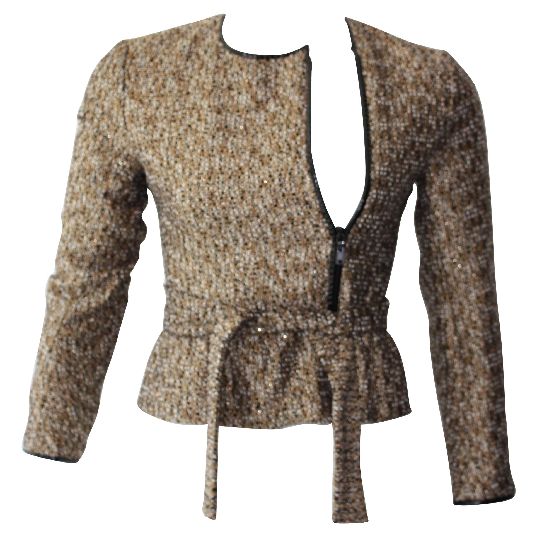 Vintage YSL Metallic  Belted Jacket XS