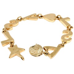 YSL Yves Saint Laurent 1980s Gold Plated Bracelet